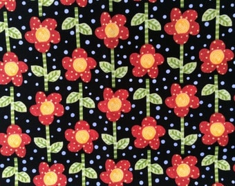 TODDLER BIB: Crazy Daisies on Black, Personalization Available