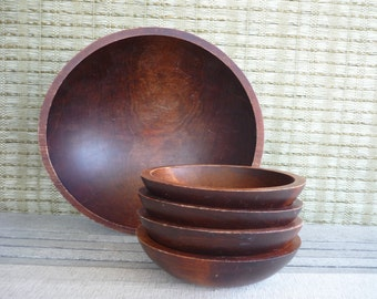 Vintage Baribocraft Salad Bowl Set, Canadian Made, Mid Century Modern Dining