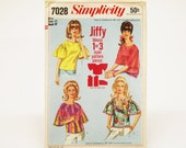 """1967 Vintage Blouse in Two Styles """"Jiffy"""" Pattern - Bust 32"""""""