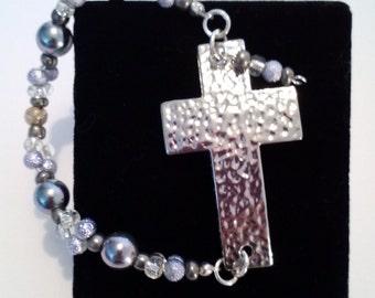 Beaded Cross Bracelet