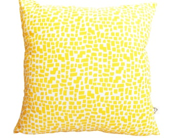 Yellow Squares Pattern Cushion Cover