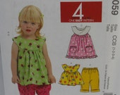 McCalls M6059, Toddlers Top, Dress, Shorts, and Pants Uncut
