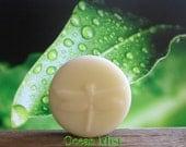 Organic Solid Lotion Bar - Ocean Mist - Pocket Size 2 oz - 100% Natural