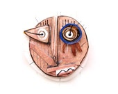 Ceramic wall art  face , Ceramic mask , Ceramic art,  Handmade ceramic by 99heads