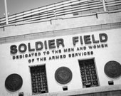 Soldier Field - Chicago Bears Football Stadium Sign Art Print - photo