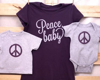 Peace Baby Mommy and Me Set (You Choose Sizes)
