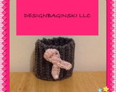 3 breast cancer awareness Gray cozy with pink ribbon