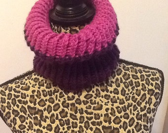 purple infinity cowl reverseble