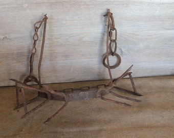 Primitive Iron  antique French Veal or Cow Weaning Spiked Collar circa 1910