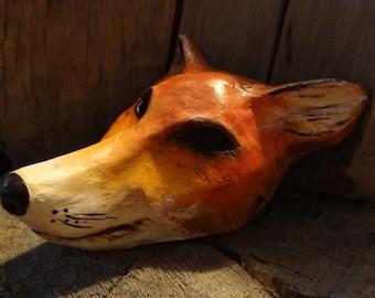 Halloween mask Paper mache fox mask fox costume