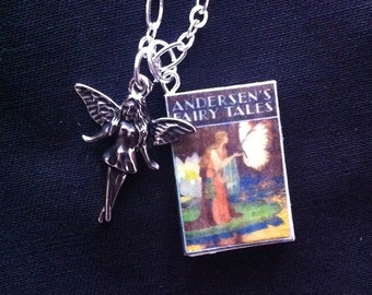 Andersen's Fairy Tales Mini Book Necklace With Charm