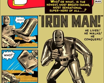 Tales Of Suspense #39 - First Appearance Of Iron Man - Stand-Up Display - Collectibles Collection Collector Marvel Comics Gift Retro