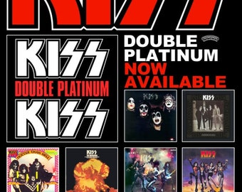 KISS Double Platinum Promo Poster Stand-Up Display