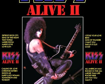 KISS Paul Stanley ALIVE II Album Promo Stand-Up Display