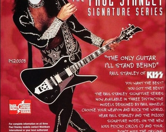 KISS Paul Stanley Washburn PS2000B Stand-Up Display - Kiss Band Kiss Collectibles Memorabilia Gift Idea Retro Poster Pintrest kiss76
