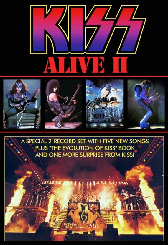 kiss army kiss collectibles retro kiss alive 2 promotional ad. Black Bedroom Furniture Sets. Home Design Ideas