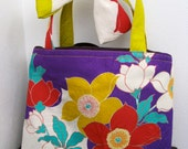 ON SALE,30%OFF,Silk  kimono fabric bag,with closer