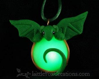 Glowing Flora Dragon Amulet