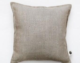 Natural Linen pillow cover grey - decorative covers - throw pillows - shams 0014