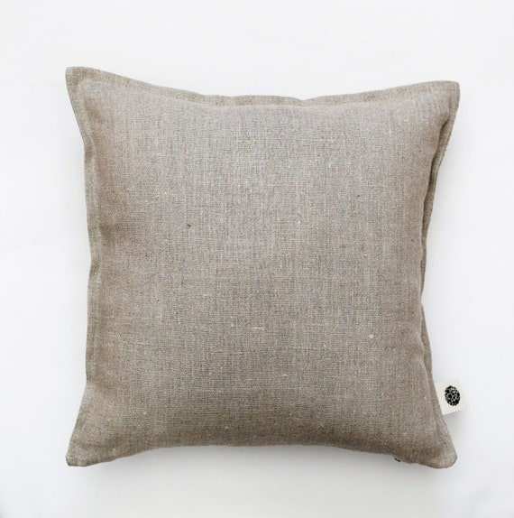 Natural Linen Pillow Cover Grey Decorative Covers By
