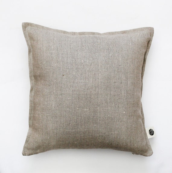 Natural Linen pillow cover grey - decorative covers - throw pillows - shams 0014