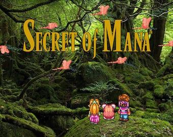 Video Game Art - Secret of Mana - Digital Art Print - Super Nintendo Tribute