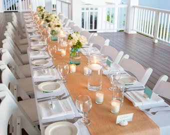 Burlap Table Runner You choose the width by 48 inches (4 feet) long Premium Natural Burlap - Holiday - Wedding or Party -  burlap runners