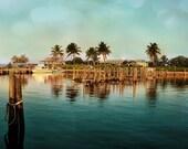 South Bimini Island Bahamas Turquoise Aquamarine Ocean Palm Trees Tropical