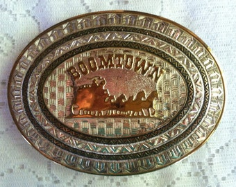Vintage 80's Boomtown Extra Large Buckle