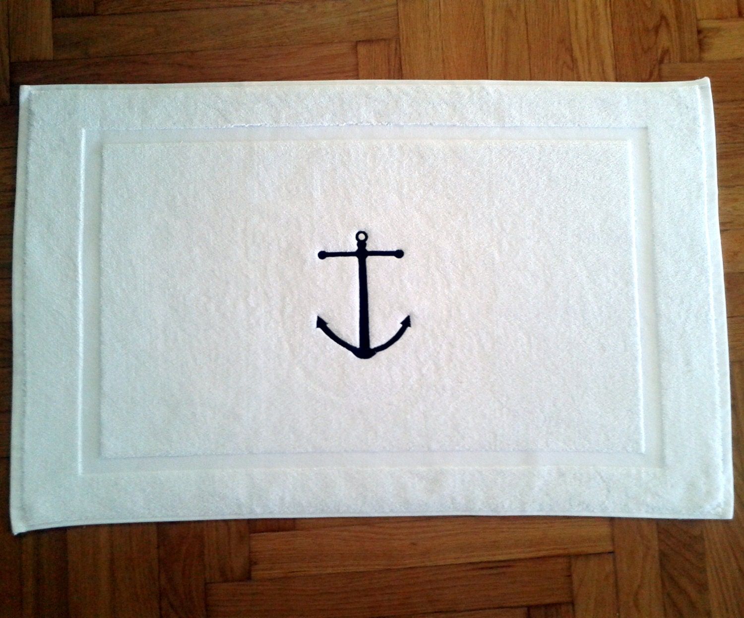 Nautical His And Hers BATH MAT Tub Mat Ancor By Letsdecorateonline