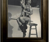 Gil Elvgren Pin Up Girl Art Print 8 x 10 - Painting Reference Photo - Female Firefighter - Pinup