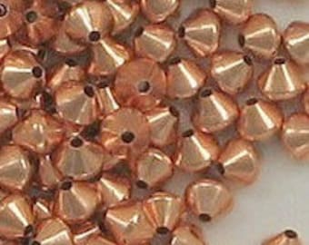 Genuine COPPER 5mm Beads ~ Double-sided Cone Beads