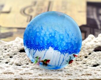 4pcs 25mm Handmade Glass Cabochon