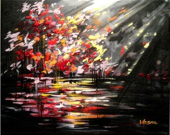 """Create - Acrylic on canvas -11""""x14""""x1.5"""""""