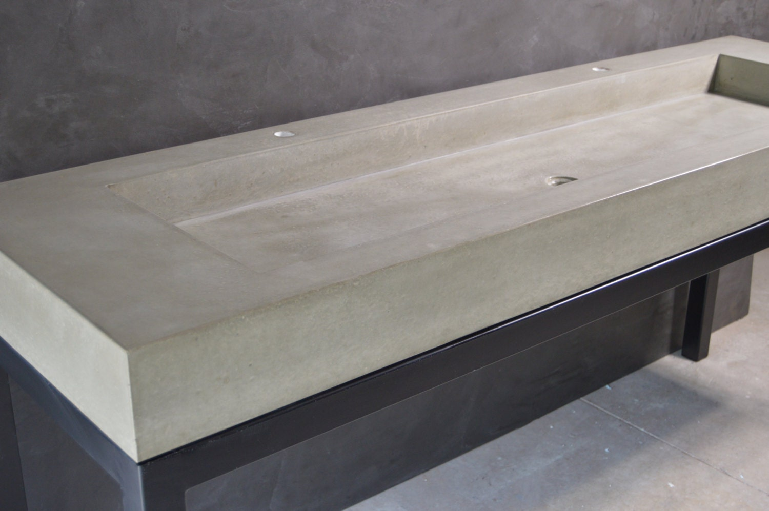 Concrete Trough Sink : Concrete Trough Sink with Base by stogsconcretedesign on Etsy