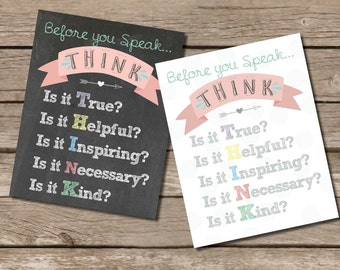 Before you speak… THINK Print