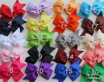 PICK 8 NON SLIP hair bows  - 10% off bow - Baby  hair bows - Girls hair bows - baby girl - bows - girl bows - bow for girl - hair bow set