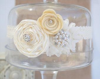 Wedding Garter, Bridal Garter, Ivory Lace Garter, Keepsake Garter, Baby baptism, Christening