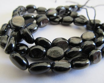 10 Hypersthene Smooth Oval Beads, Approx 10x8mm