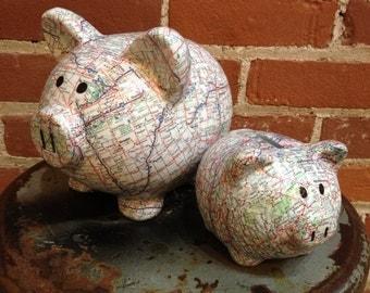 The Original Road Trip Fund Ceramic Piggy Bank - Small