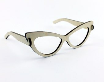 Funny wooden glasses / simple glasses / party glasses / geeky