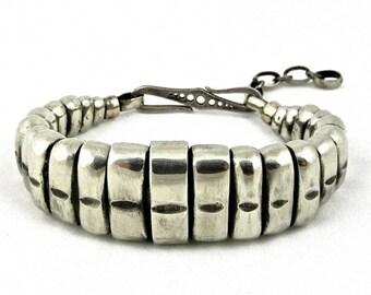 Snake Bracelet - white brass