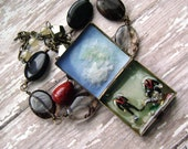 Diorama jewelry, handmade jewelry, mini, scenic,Treasure of the Merchant Royal, underwater diorama assemblage necklace by Anvil Artifacts