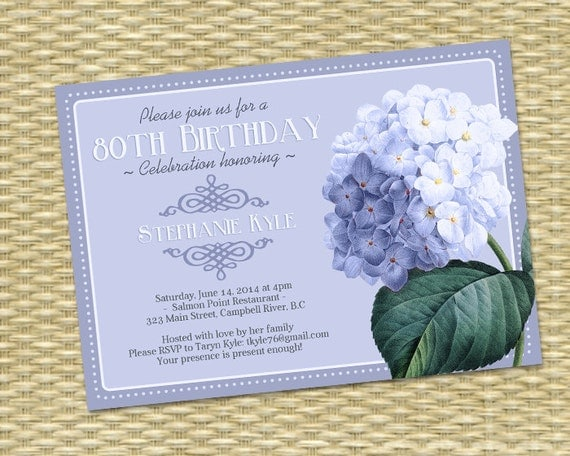 Designer Adult Birthday Party Invites
