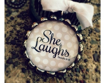 She Laughs Soldered necklace