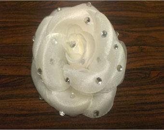 White Diamond Blinged Rose