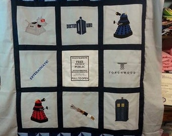 Doctor Who Lap Quilt