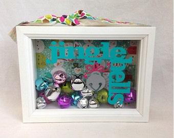 Multi Colored Jingle Bell Shadow Box