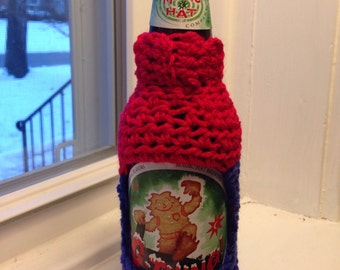 Red and Blue Beer Bottle Sweater