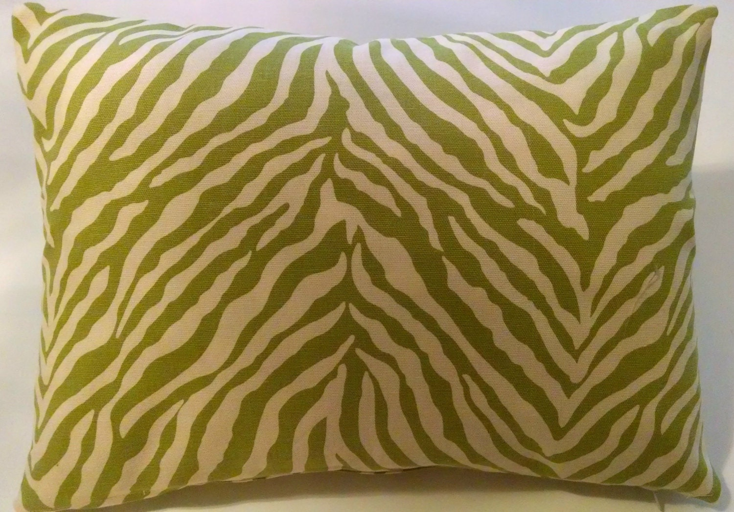 12 x 16 Lime Green Pillow Cover-Zebra Print by ...